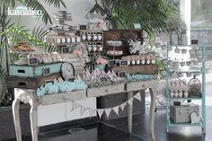 www.kamalion.com.mx - Mesa de Dulces / Candy Bar / Wedding / Boda / Rosa & Menta / Pink & Mint / Vintage / Rustic Decor.