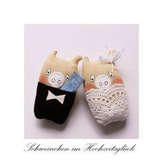 Glücksschweinchen - Für d. Hochzeit Glücksschwein Rosalie Knicköhrchen - ein Designerstück von uggla-deko bei DaWanda