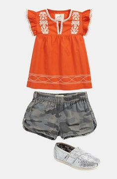 Peek Dress & Shorts, TOMS Slip-On  available at #Nordstrom
