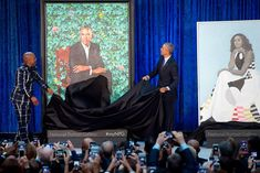 Wellcome to my channel Entertainment Tonight Smithsonian to Unveil Portraits of Barack and Michelle Obama. Former President Barack Obama and First Lady Mic. Obama Portrait, African American Artist, American Artists, Michelle Obama, Obama Presidential Portrait, Barack Obama, Amy Sherald, Kehinde Wiley, Vegetable Garden