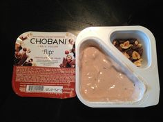 The Chobani Flip Yogurt was my favorite out of all of the Chobani yogurts that I tried. This one was my first Flip that I tried. Liked it so much that I purchased more of them and in other flavors too. Chobani Greek Yogurt, Chocolate, My Favorite Things, Food, Essen, Chocolates, Meals, Brown, Yemek