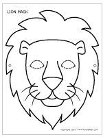 Printable Lion Mask Safari Project