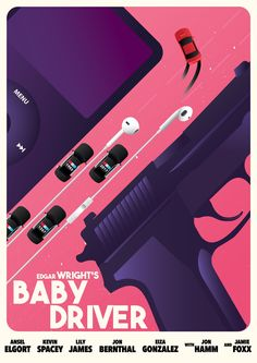 Fan of action thrillers and want some cool posters from Baby Driver? Check out our awesome Baby Driver poster collection. Best Movie Posters, Movie Poster Art, Cool Posters, Film Posters, Great Films, Good Movies, Baby Driver Poster, Nicky Larson, Bon Film