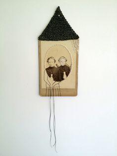 Forgotten series. Hand embroidered cabinet card photograph. http://cindysteiler.com