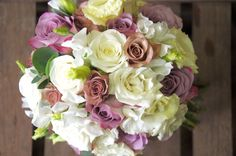 white and rosa bouquet