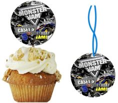Monster Truck Jam Cupcakes - personalize on ebay