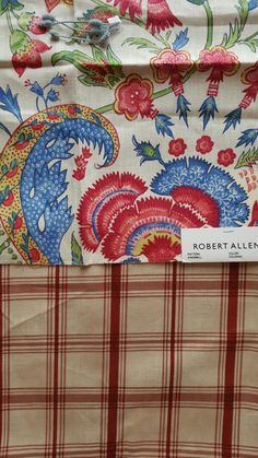 Robert Allen Kingsmill Colonial with Waverly Pantry Plaid