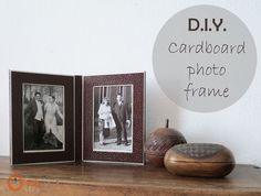 DIY Cardboard photo frame - Ohoh deco - It's been awhile since I made something with cardboard, I almost forgot it was soo nice and fast! Cool Diy, Diy Karton, Diy Cardboard, Cardboard Furniture, Furniture Ideas, Up House, Diy Photo, Photo Ideas, Diy Tutorial