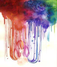 watercolor rain - Bing Images