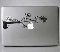 Kasmir's Peace Laptop Decals Mac Decal Macbook Decals by NDYJI87, $8.99 @sydneystreeb