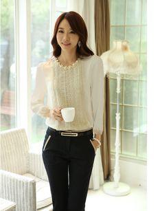 2015 Women's Shirt Lace Chiffon Blouse Summer Blouses Camisa Blusa  Blusinhas Femininas Roupa Female Tops Shirts for Ladies