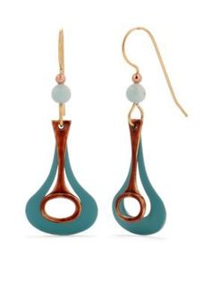 Silver Forest  Key Look on Keyhole Layered Drop Earrings