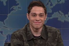 Pete Davidson with his mom and sister Pete Davidson in