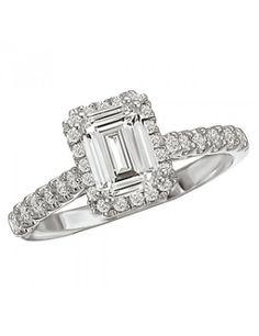 Halo Semi-Mount Diamond Ring from Love my Romance.