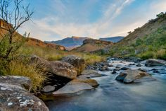 The Drakensberg in photos: check out these gorgeous shots for a glimpse into one of the most spectacular landscapes in South Africa. Eternal Sunshine, South Africa, Landscapes, Places To Visit, Castle, Happy Birthday, River, Photography, Outdoor