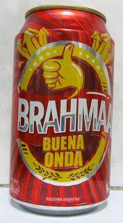LATAS Y BOTELLAS COLECCIÓN: LATA BRAHMA BUENA ONDA  ARGENTINA 2014