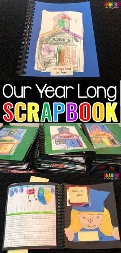 Our Year Long Scrapbook - Sharing Kindergarten