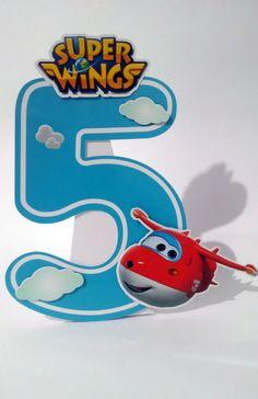 Super Wings Super Enfeite de Mesa Jett