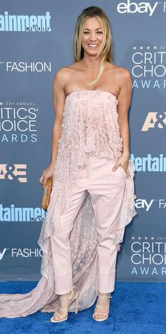 All the Glam Red Carpet Looks from the Critics' Choice Awards - Kaley Cuoco from InStyle.com