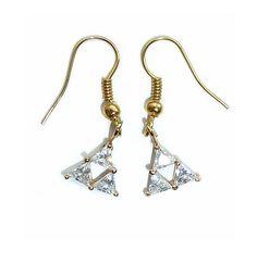 Legend of Zelda Triforce Earrings by Rhyara on Etsy