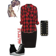 Edgy Pentecostal! by whitneyhill on Polyvore featuring polyvore, fashion, style, Whistles, Converse and Valentino