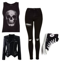 """emo"" by ignaciadaille ❤ liked on Polyvore featuring interior, interiors, interior design, home, home decor, interior decorating, ElevenParis, Topshop and Converse"