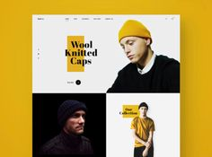 Wool Knitted Caps mens modern clothing responsive social web design fashion minimal landing page ecommerce ux ui sketch Source by usemuzli clothing Web Design Trends, Web Design Grid, Fashion Web Design, Web Design Mobile, Site Web Design, Ecommerce Web Design, Graphisches Design, Page Design, Layout Design