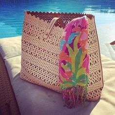 Blush Modern Laser Cut Out Tote Bag | Avalon Tote | Stella & Dot ...