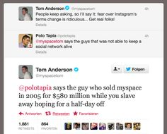 MySpace Twitter Burn #MySpace #TomAnderson #Twitter