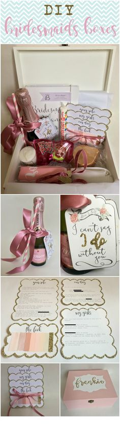 Bridesmaid Proposal Box Will you be my bridesmaid Maid of Honour proposal