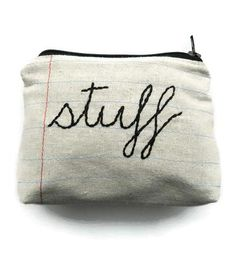 Stuff Zipper Pouch | Women's Bags & Accessories | Montclair Made | Scoutmob Shoppe | Product Detail