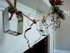 Please Note: Bright Idea: Cookie Cutter Crafts This would be cute with antique cookie cutters, with a different theme...