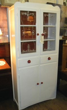 """1940's Kitchen Cabinet Repainted!  12"""" x 30"""" x 66""""H  $180.00  SOLD!!!"""
