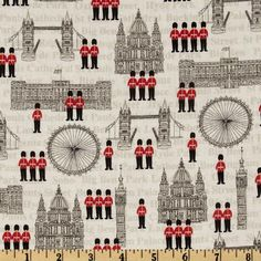 London Buildings Cream/Multi fabric.com | perfect to DIY some pillows