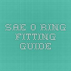 SAE O-Ring Fitting Guide