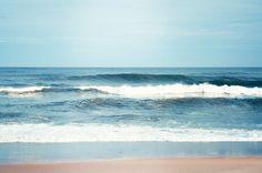 "Ocean Photography - sea waves water beach summer - blue white - nautical coastal wall art print - 8x12 Photograph, ""Oceanfront"". $33.00, via Etsy."