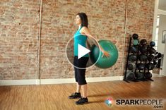 How to tone your arms with nothing but a ball! This is a surprisingly difficult workout!