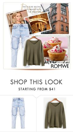 """""""Romwe"""" by muamera20 ❤ liked on Polyvore featuring Whiteley and WALL"""