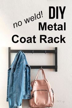Easy no-weld DIY metal coat rack. Great beginner tutorial on aluminum brazing that I did in partnership with Bernzomatic. Nice way to get started with metal work. Awesome Woodworking Ideas, Woodworking Box, Woodworking Workshop, Woodworking Techniques, Woodworking Furniture, Woodworking Projects, Welding Projects, Diy Projects, Project Ideas