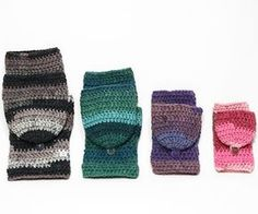 Crochet Pattern: Easy Fingerless Mitten with Flaps for All Sizes