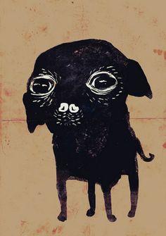 "Illustrator Anja Zaharanski (b. Poland, live in Munich), ""365 Project"": illustrating one beloved pup every day. #Chihuahua"