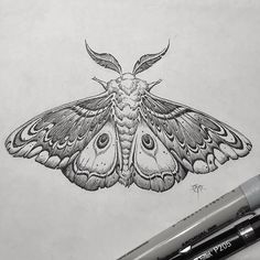 Mine & Sam's { @samanthamacabre } planchette moth drawing via @aaronhorkey tattooed via @abracadabratattoonola; who is hosting the #bloodmilk trunk show tomorrow night here in NOLA { Please don't get this jawn tattooed, be cool }