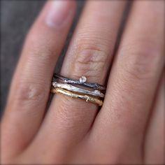 Diamond Branch Stacking ring