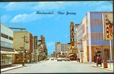 Hackensack, NJ on Pinterest! This main street view of Hackensack, NJ is a definite blast from my past! The next town over from Teaneck, Hackensack, had 2 movie theatres: the Oritani and the  Fox right across the street from each other. The place to be for Saturday movies because you could pack in more entertainment value (no multiplexes). Back then you could drop your children off and pick them up after the movie was over. resents Bergen County!