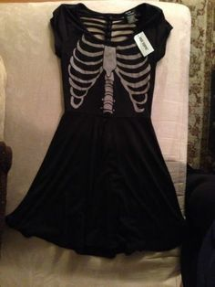 Skeleton Hot Topic Teenage Runaway Dress Black Small