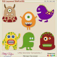 Little Monster Layered TEMPLATES 1 #CUdigitals cudigitals.com cu commercial digital scrap #digiscrap scrapbook graphics