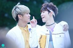 UP10TION Hwanhee &Xiao cr:@MiniMate98