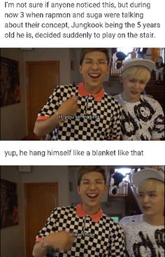 """IT GETS BETTER jimin like 2 seconds later tells jungkook """"it's dangerous, don't play there"""" LIKE THE ANGEL HE IS"""