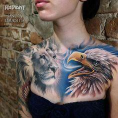 Interview with Sandra Daukshta 3d Tattoos, Trendy Tattoos, Tattoos For Guys, Cool Tattoos, Skull Fire, Colour Tattoo, Tattoos Gallery, Chest Tattoo, Inked Girls