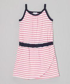 This Parfait & Navy Stripe Dress - Toddler is perfect! #zulilyfinds